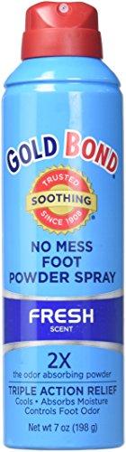Gold Powder Bond Foot (Gold Bond Foot Spray 7z, No Mess, Medium ( Pack Of 4 ))