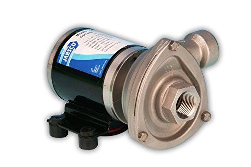 Jabsco 50840-0012 Marine High Flow Low Pressure Cyclone Centrifugal Pump, 29.7 GPM, 12 Volt, Black (Renewed) -  50840-0012-cr