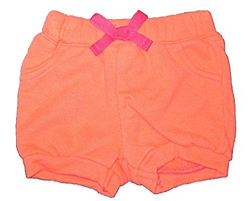 Coral Peach Baby Girl Shorts, Newborn, 0-3 months Cherokee Newborn Girls Short