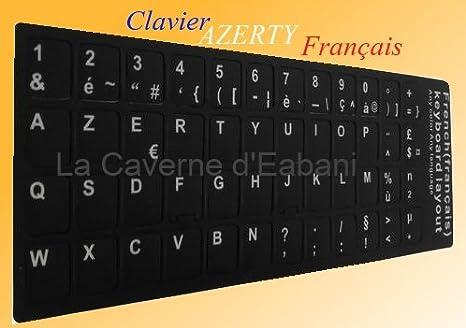 Adhesivo para convertir un teclado QWERTY de portátil a AZERTY (teclado francés), color negro: Amazon.es: Electrónica