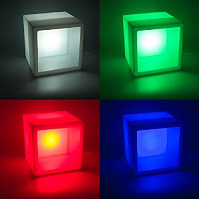 GreenLighting White Color Changing 3W LED Hollow Cube Light (380mm, 3 Pack)