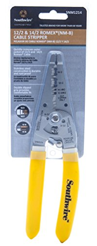 Southwire Tools & Equipment SNM1214 12-14 AWG Ergonomic Handles NM Cable Wire Stripper/Cutter by Southwire (Image #2)