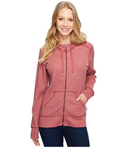 Carhartt Women's Meadow Waffle Knit Zip Front Hoodie, Dried Rose Heather, Medium ()