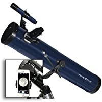 """FirstView 3"""" Reflector Telescope With Universal Smartphone Camera Adapter (Blue)"""
