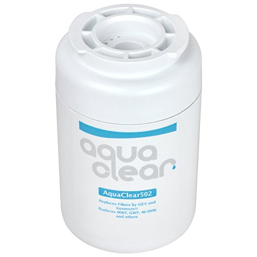 AquaClear 502 MWF Refrigerator Water Filter GE MWF Fridge Filter Replacement - NSF 42 Certified - Made in the USA -  AquaClear502