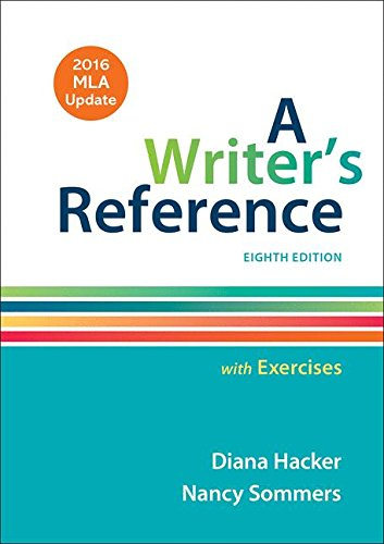 A Writer's Reference with Exercises with 2016 MLA Update cover
