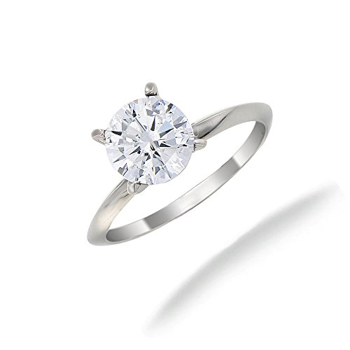 0.70 CT IGI Certified Diamond Solitaire Ring 14K Gold Size 7