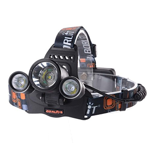 GHB Stirnlampe Cree XM-L T6 Kopflampe 3x 6000LM 4 Modi