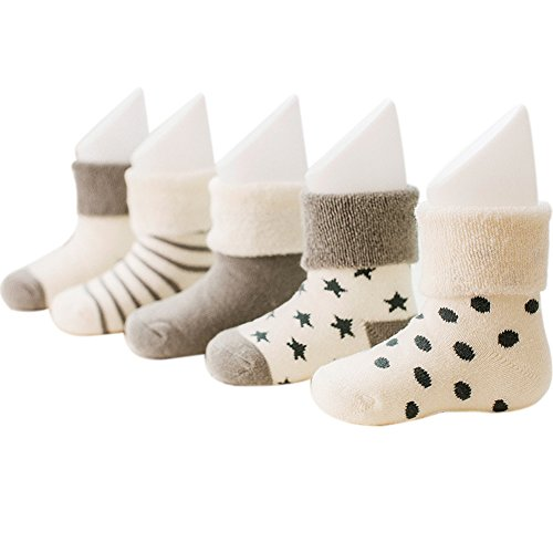 vwu-baby-thick-cuff-cotton-socks-5-pack-7-color-available-grey-0-6-months