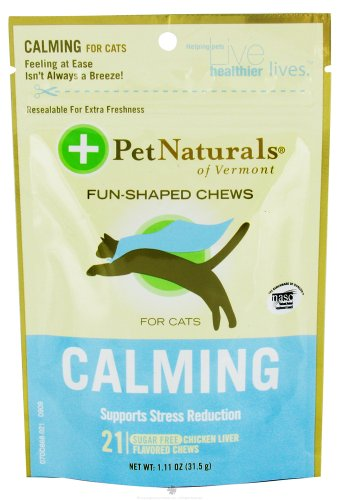 Calming Formula for Cats 21 Soft Chew Tablets by Pet Naturals of Vermont / 21 Count ( Multi-Pack)