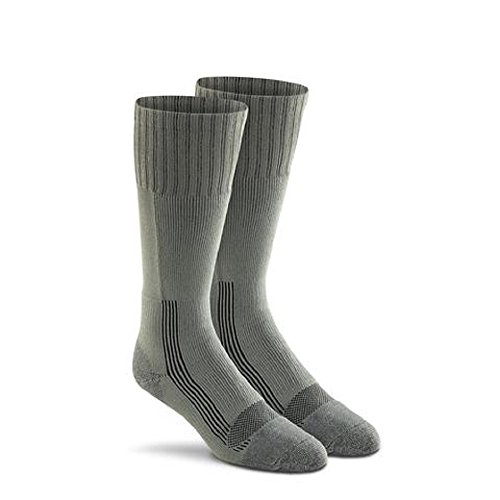 Military Wick Dry Maximum Mid Calf Boot Sock (2 Pack – Large, FOLIAGE GREEN)