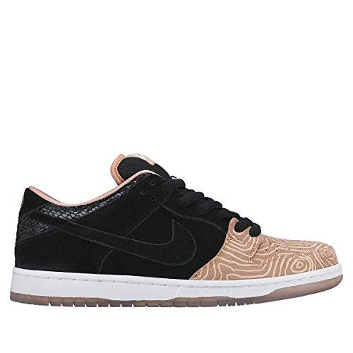 Nike Mens Dunk Low Premium SB Fish Ladder Salmon Atomic Pink/Black-White Synthetic Size 8.5