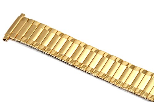 SPEIDEL 16-22MM SHORT GOLD RADIAL TWIST O FLEX EXPANSION WATCH BAND STRAP