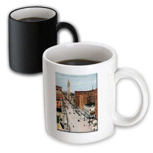 3dRose Sixteenth St. Denver Colorado, From Glenarm Street City Scape, Magic Transforming Mug, ()