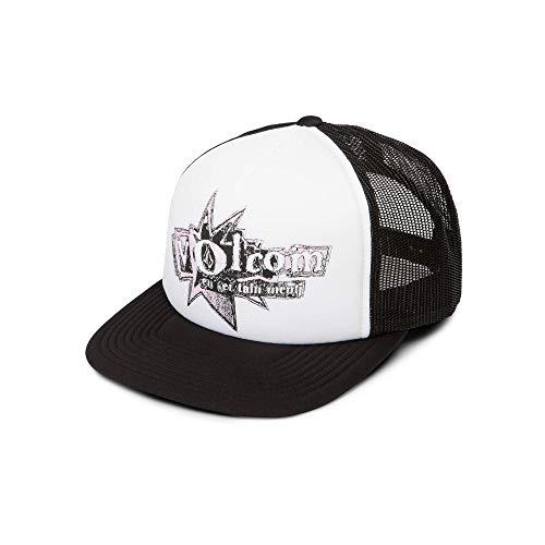 Volcom Junior's Stonar Waves Trucker Hat, White, One Size Fits All