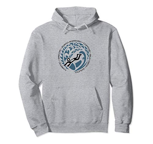 Santa Barbara Body Surfing Hoodie Top Lovers Surf Fans ()
