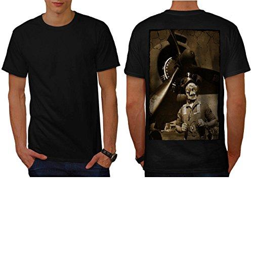 [Skull Body Costume Zombie Art Men NEW S T-shirt Back | Wellcoda] (Pregnant Basketball Costume)