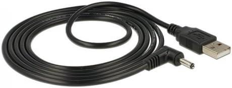 5,5 mm x 2,1 mm bis 90 ° rechtwinklig 3,5 mm x 1,35 mm DC Adapterkabel für