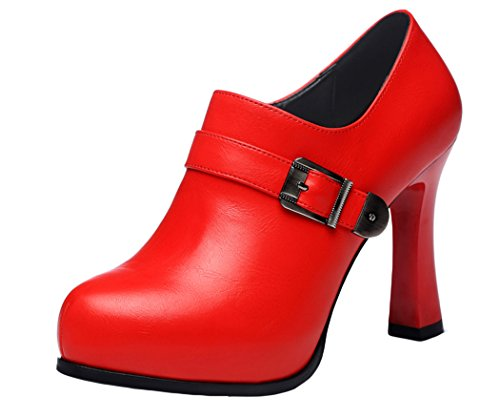 Guciheaven New Style Fashion Platform Series Red Red Fine With High Heels(5 B(M)US, Red)