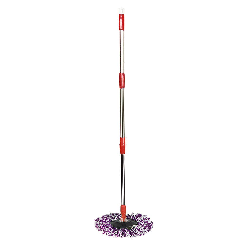 Purple Shmei US Fast Shippment Spin Mop Pole Handle Replacement for Floor Mop 360 No Foot Pedal Version Black Include 1PC Set Mop Handle Replacement,1PC Head