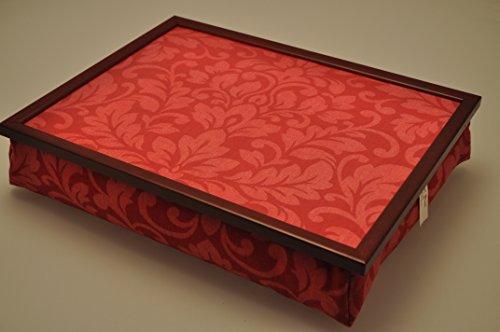 Margot Steel F122 Knietablett mit Kissen Blumen Rot