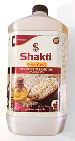 Shakti Sesame Oil (Gingelly) - Kacchi Gani 100% Pure Sesame Oil (0% Cholesterol) GMO Free (5 l)