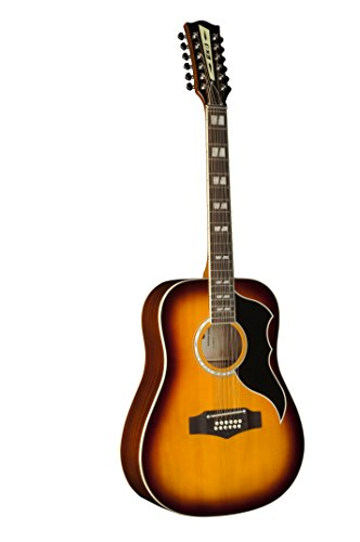 Vintage Dreadnought Acoustic Guitar - EKO Guitars 06216941 RANGER Series VR XII Dreadnought 12 String Acoustic Guitar, Honeyburst