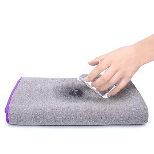 Loel Brikram Hot Yoga Towel- Microfiber SUEDE Non Slip Hot Yoga Mat Towel Super Absorbant Quick-dry Sports Towels
