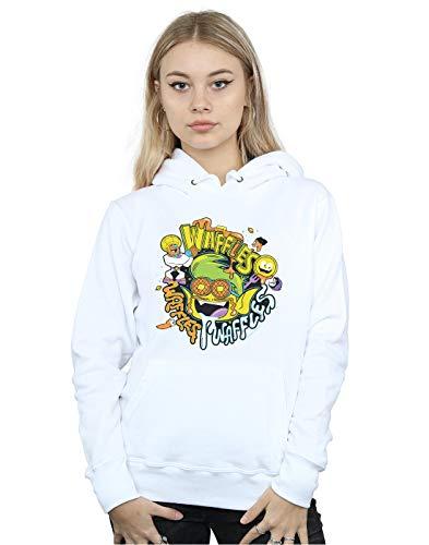 Go bianca Titans Dc Mania cappuccio Felpa Woman con Comics Waffle Teen BqPUPZvI