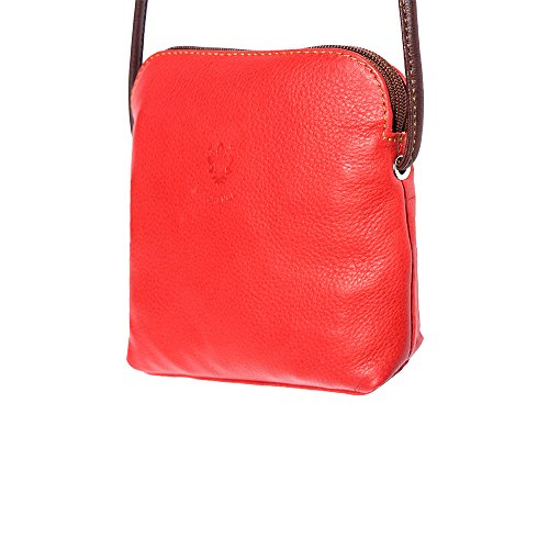 bag 8609 body unisex Red Mini brown leather soft cross ZW4q4C