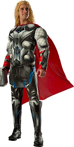 Rubie's Costume Co Men's Avengers 2 Age Of Ultron Deluxe Adult Thor Costume, Multi, (Marvel Costumes Adult)