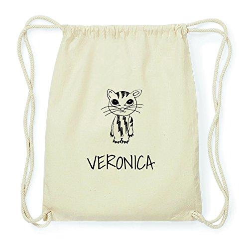JOllipets VERONICA Hipster Turnbeutel Tasche Rucksack aus Baumwolle Design: Katze
