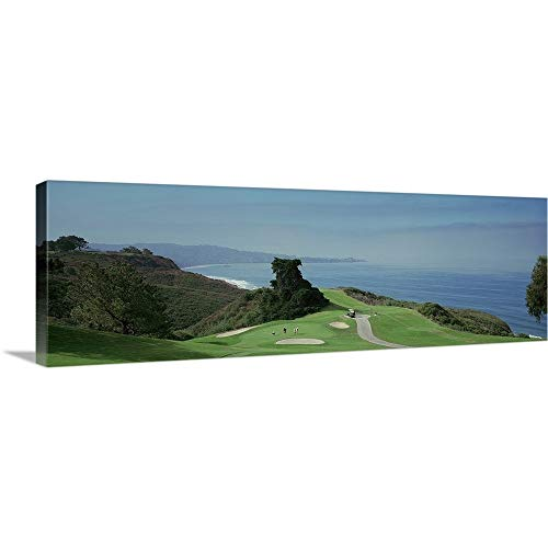 Golf Course at The Coast Torrey Pines Golf Course San Diego California Canvas Wall Art Print, 3.