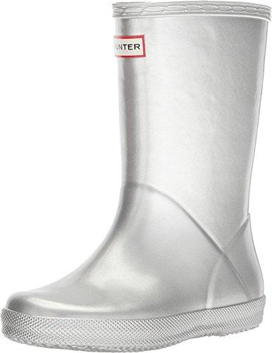 Hunter Kids Unisex First Classic Metal Rain Boot (Toddler/Little Kid) Silver 12 M US Little Kid -