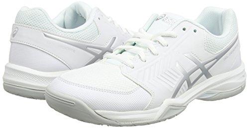 Silver Scarpe Donna Gel Da Bianco 5 Asics white dedicate Tennis 6tYq6z