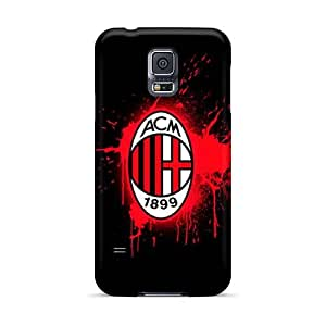 Bumper Hard Cell-phone Case For Samsung Galaxy S5 (yTe26344quSC) Provide Private Custom Colorful Ac Milan 2 Skin
