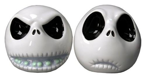 Nightmare Before Christmas Salt and Pepper Shakers - Two Faces of Jack