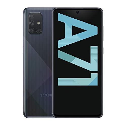 chollos oferta descuentos barato Samsung Galaxy A71 Smartphone de 6 7 FHD 4G Dual SIM 6 GB RAM 128 GB ROM cámara Trasera 64 0 MP 12 0 MP UW 5 0 MP Macro 5 MP cámara Frontal 32 MP Negro Versión española