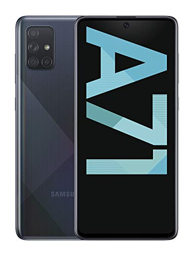 Samsung Galaxy A71 – Smartphone de 6.7″ FHD+ (4G, Dual SIM, 6 GB RAM,128 GB ROM, cámara Trasera 64.0 MP+12.0 MP (UW)+5.0 MP (Macro)+5 MP, cámara Frontal 32 MP) Negro [Versión española]