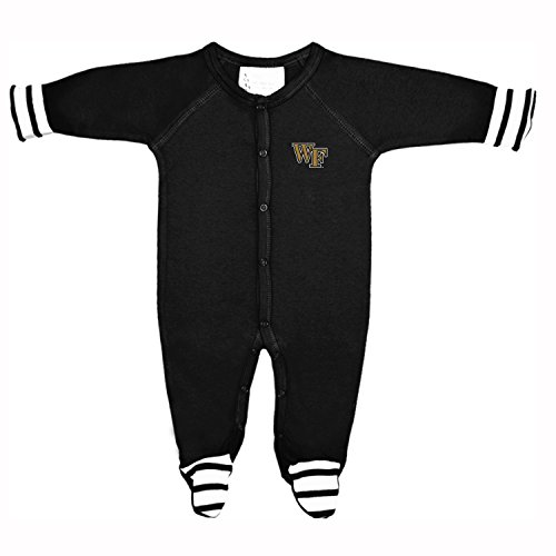 Two Feet Ahead NCAA Wake Forest Demon Deacons Infant Stripe Footed Creeper, 12, -