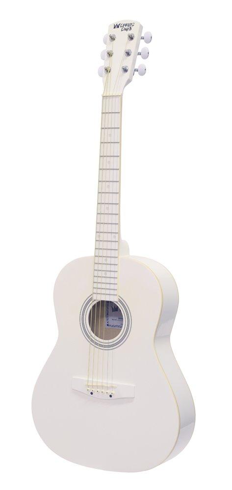 ced88e94811 Darling Divas Acoustic Steel String Guitar Package for Kids; Color -  Whisper White. Includes an acoustic guitar, color gig bag, strap, picks, ...