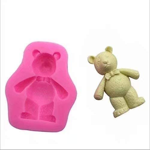 Allforhome 3 Cavities Mini Silicone 2.7cm Flower Fondant Clay Fimo Candy Chocolate Cake Molds Decorationg Moulds