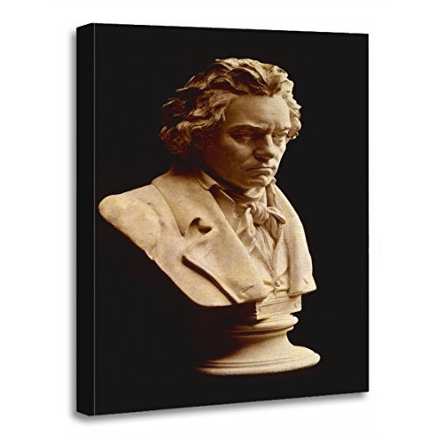 - TORASS Canvas Wall Art Print Music Beethoven Bust Statue Composer Photography Portrait Artwork for Home Decor 16