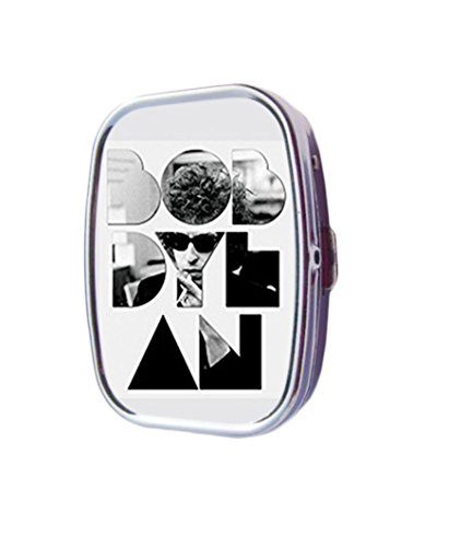 Bob Dylan Font Sunglasses Customized Pill Box case holder Durable Stainless Steel Box case gift for Pocket or - Customized Sunglass