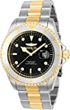 Invicta Men's 43mm Pro Diver Japanese Quartz Black Mother Of Pearl Dial Gold Two Tone Stainless Steel Watch