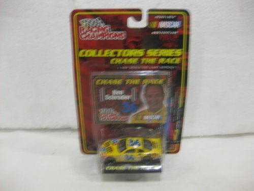Chase The Race Ken Schrader #36 M&M's Pontiac Grand Prix Nascar In Yellow Diecast 1:64 Scale By Racing Champions