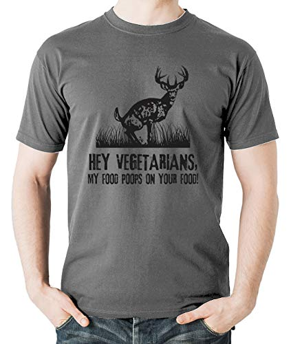 06b726115 Witty Fashions Hey Vegetarians, My Food Poops On Your Food Funny Sarcasm  Humor Men's T