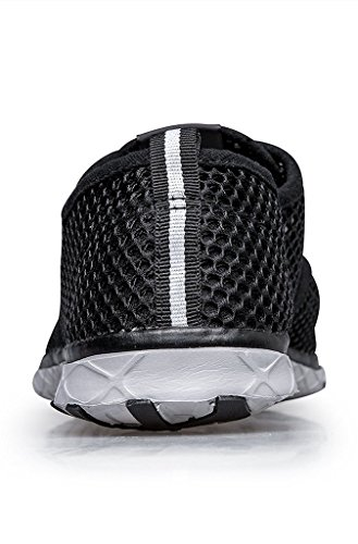 Mens Water Fashion Drying Shoes Shoes Black Up Lace Grey Aqua Quick Walking Breathable Mesh Lightweight wqgYFw