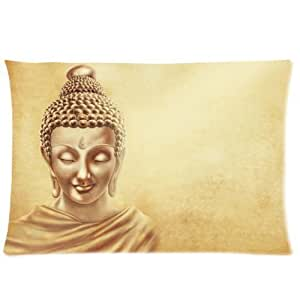 Buddha Statue Two Sides Rectangle Zippered Pillowcase Pillow Cover 16x24 Inch by ruishername