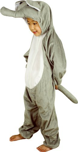 Fun Play Fancy Dress Elephant Onesies Animal Costume 5-7 Years Size L (Elephant Kids Costume)